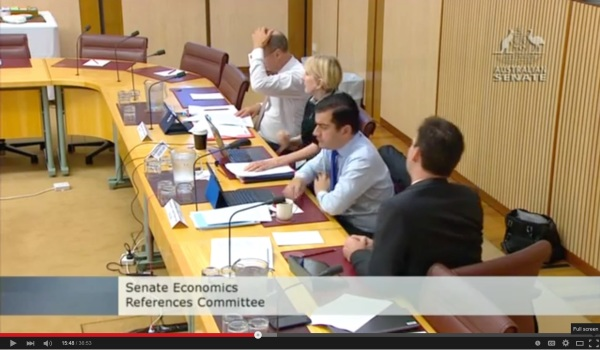 Australian Senate Testimony On Bitcoin