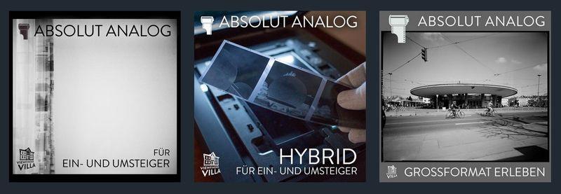 Absolut Analog – drei neue Workshops – sechs Termine