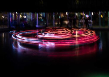 Bumper Car Choreography: A New Way of Light Painting